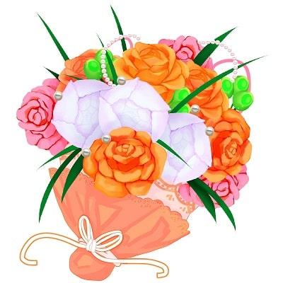 謝恩会で渡す花のイラスト