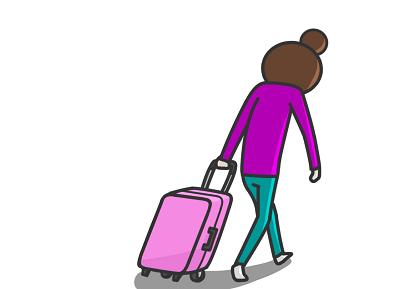 夏休みに旅行へ行く
