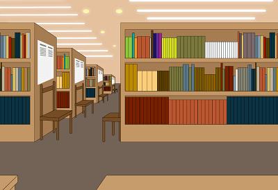 図書館のイラスト